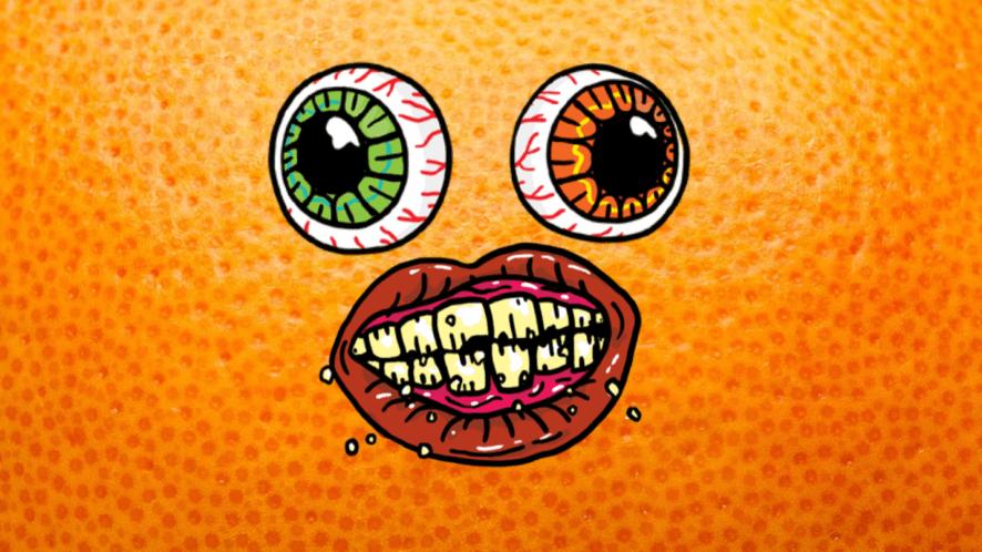 A zombie orange