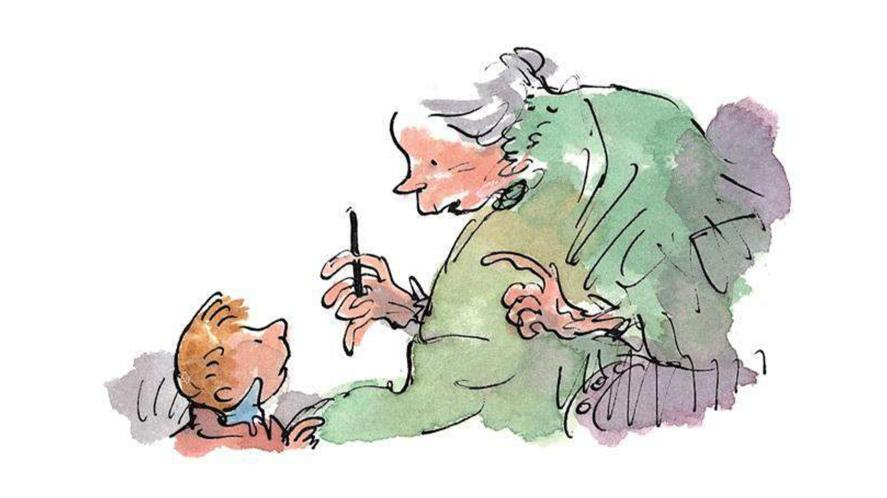 The Witches illustration by Quentin Blake