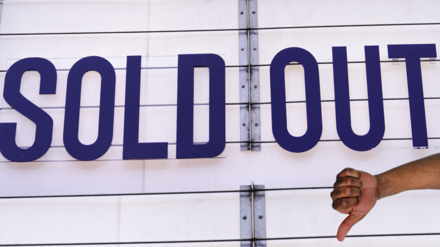 A sold out sign