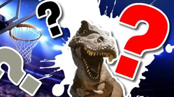The Toronto Raptors Quiz: We didn't have the budget for a raptor so the artist used a picture of a T-Rex instead