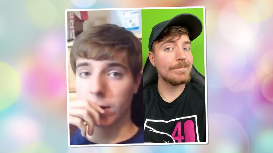 MrBeast then and now