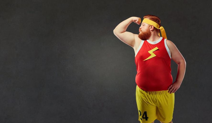 Man in homemade superhero costume