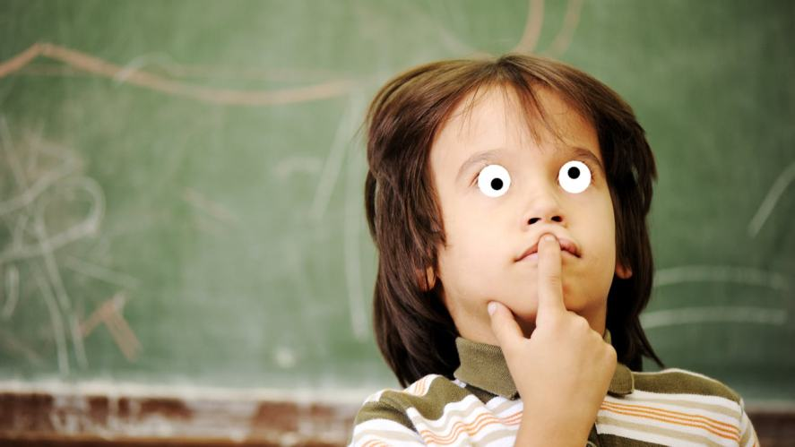 a child thinking