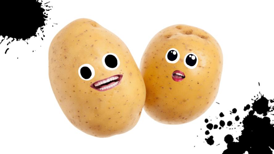 Two happy potatoes
