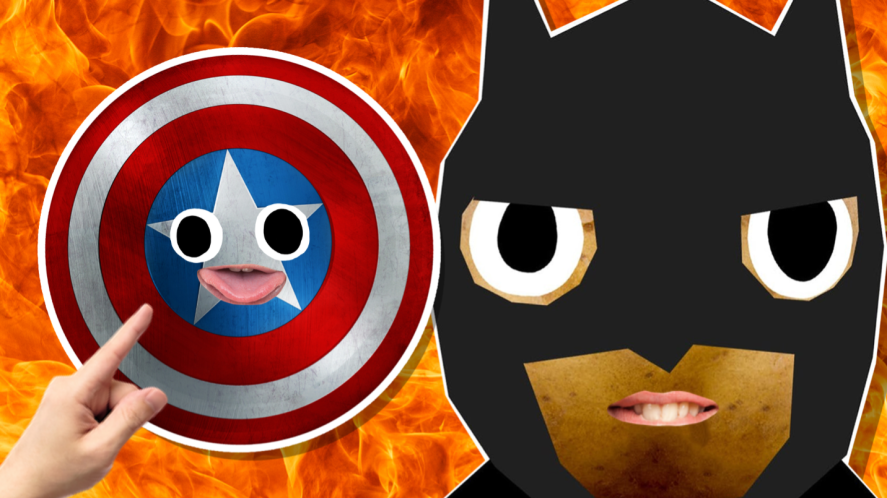 Batman and Captain America