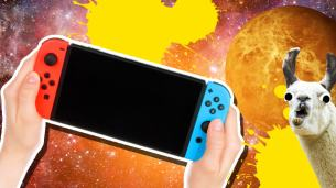 Nintendo Switch Facts. For some reason this article is illustrated by a llama in space.