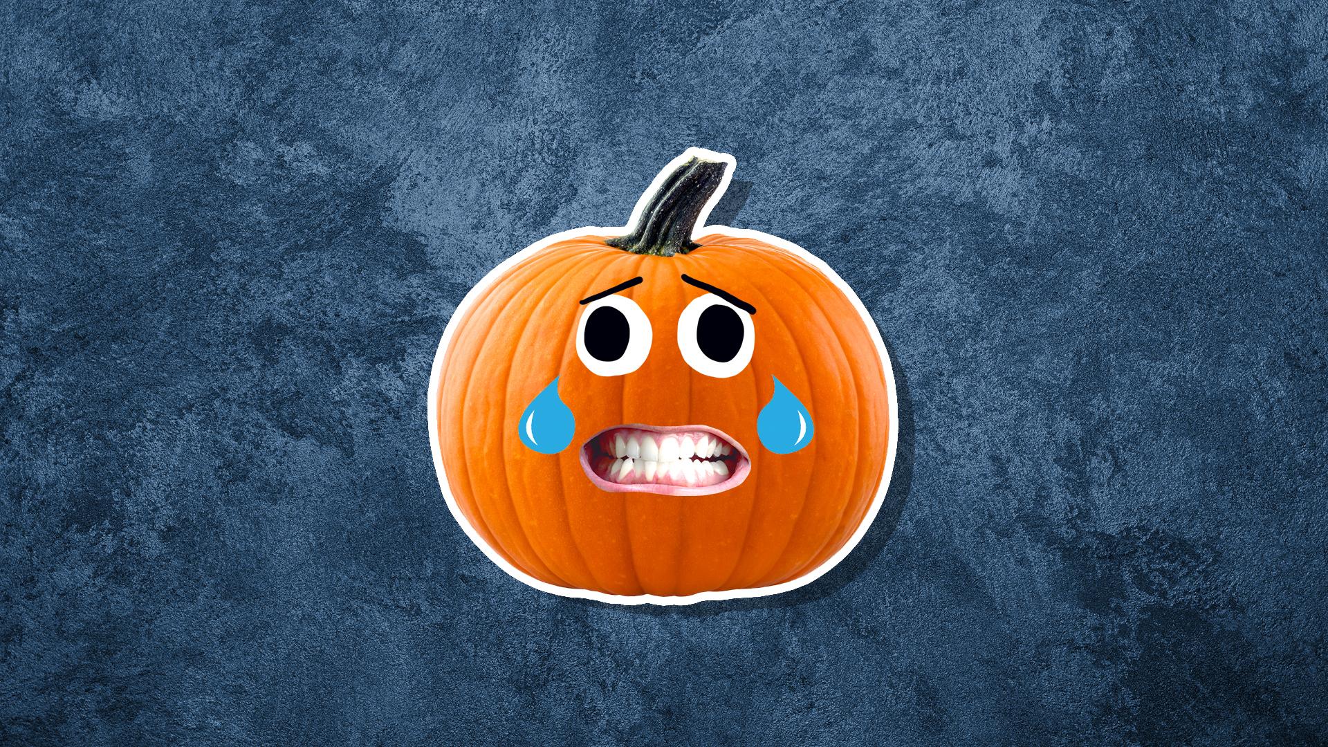 A cry laughing pumpkin