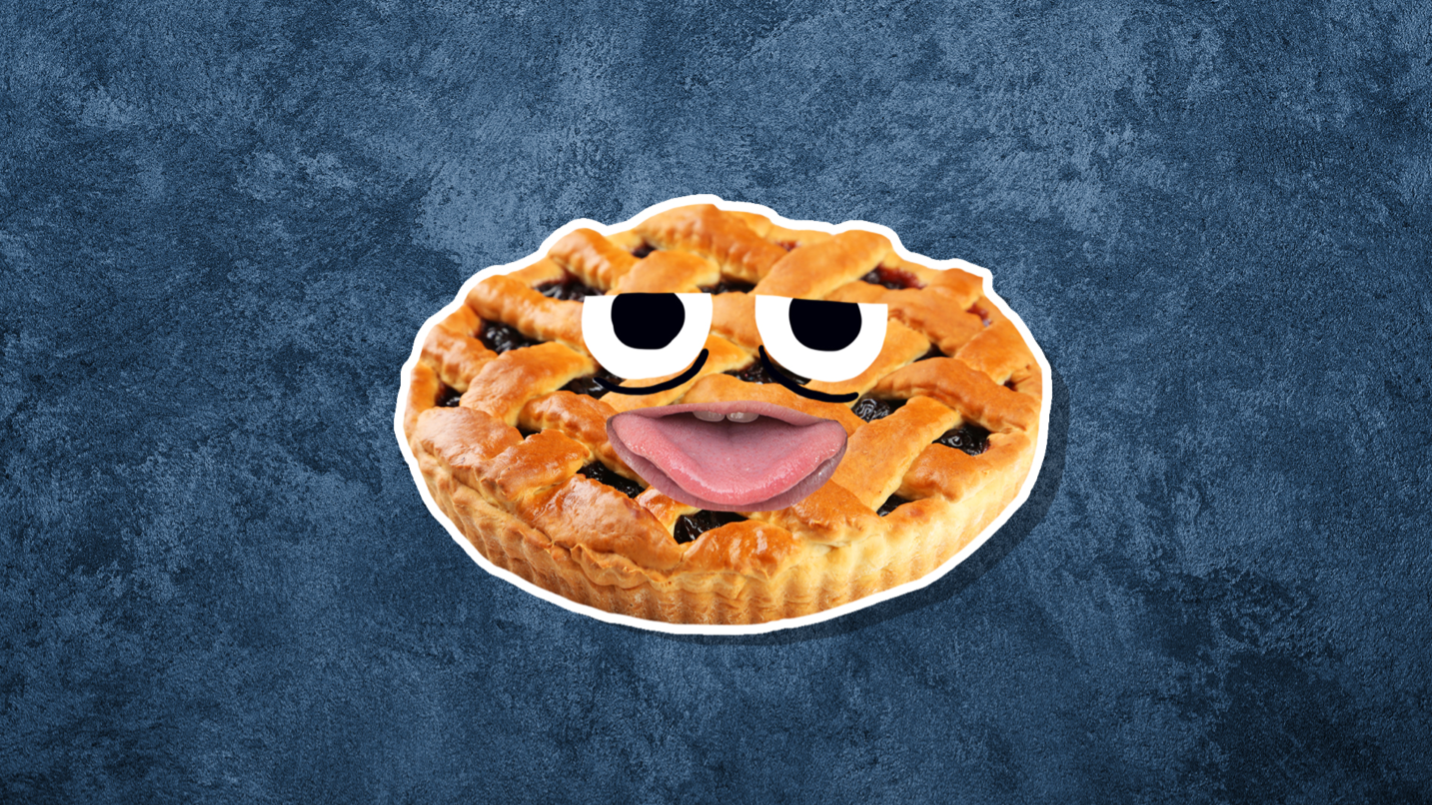 A pie who's eaten too much