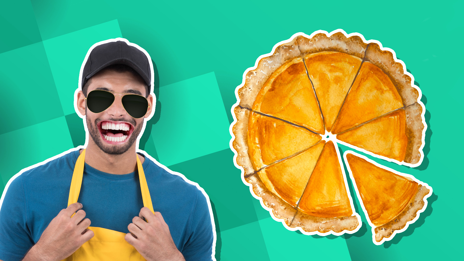 A baker and a pie chart