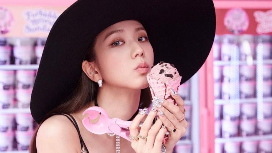 Jisoo has an ice cream