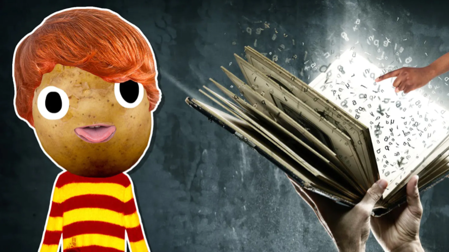 Ron and a spell book