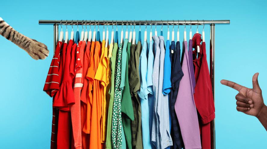 A clothes rail