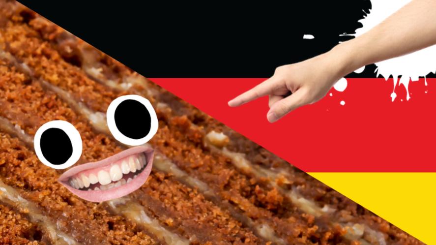 A German chocolate cake