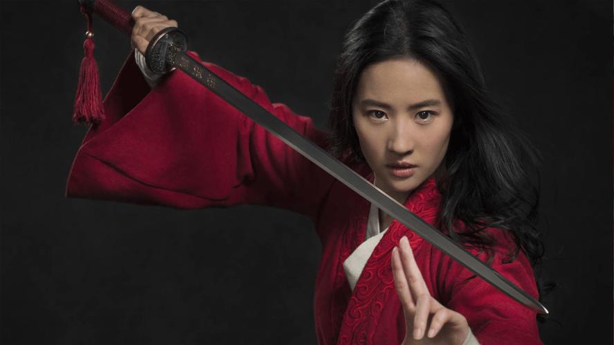 Mulan drawing her sword