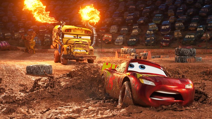 Cars in stadium