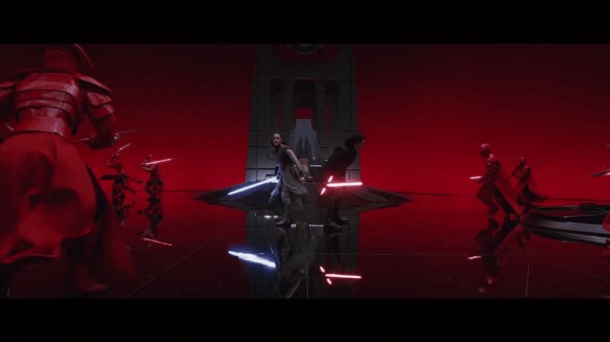 A scene from Star Wars: The Last Jedi