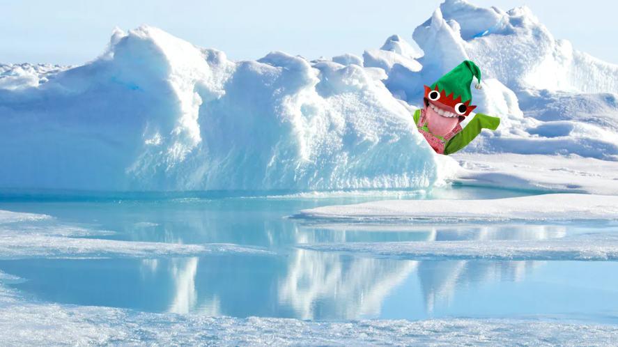 Elf in the snow