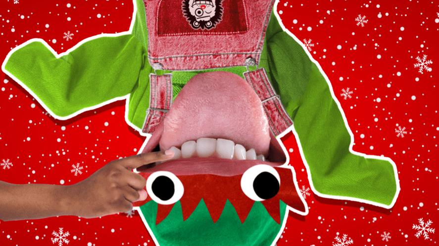 Elf having their teeth counted