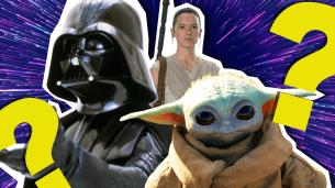 Darth Vader, Rey and Baby Yoda