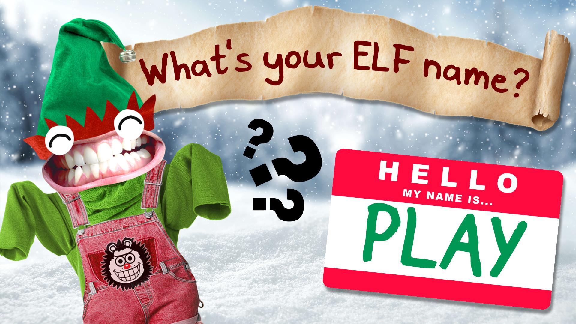 What's YOUR Random Christmas Elf Name?