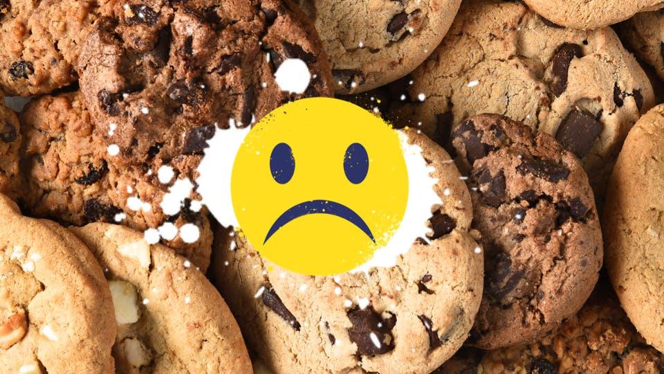 A sad cookie fan
