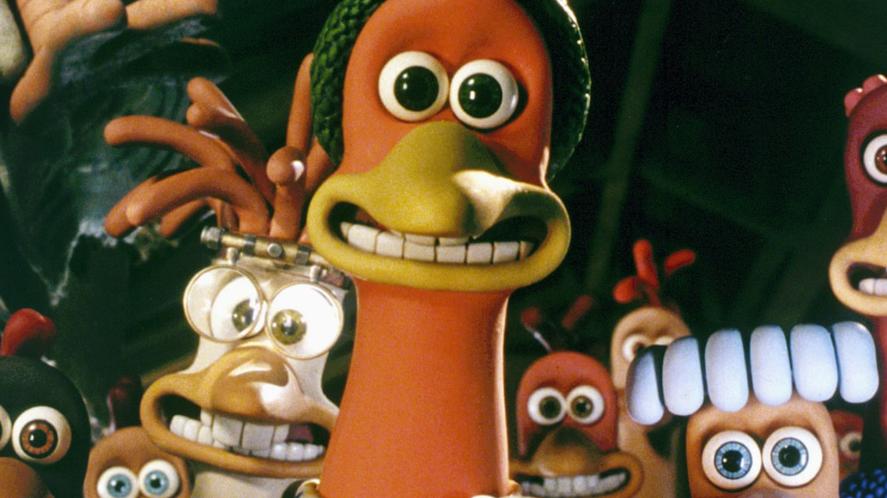 Scene from Chicken Run