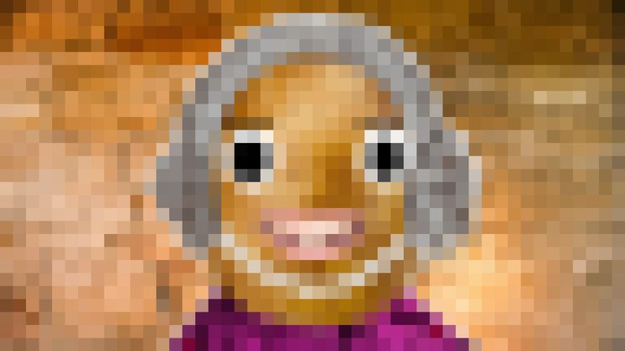 A pixelated Harry Potter character