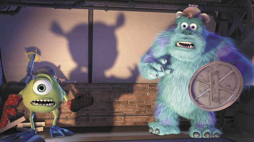 A scene from Monsters Inc