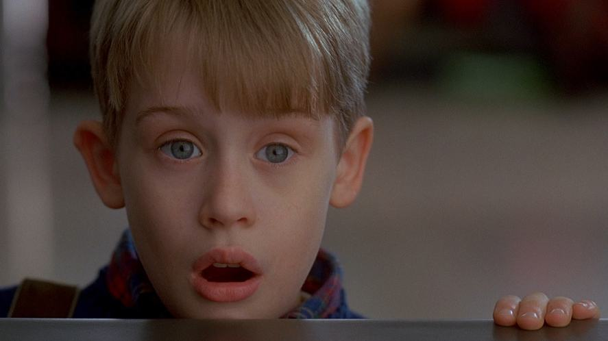 A scene from Home Alone