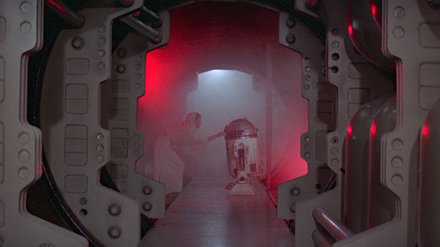A scene from Star Wars: A New Hope