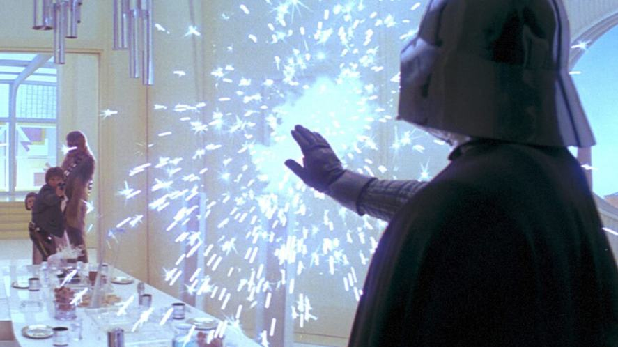 A scene from Star Wars: The Empire Strikes Back