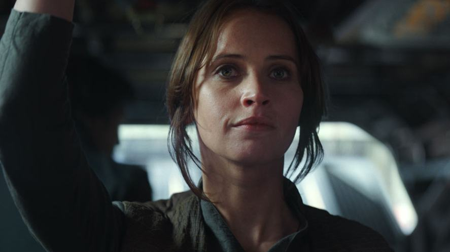A scene from Rogue One: A Star Wars Story