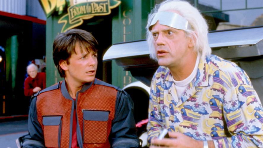 A scene from Back To The Future: Part II