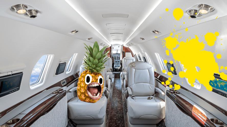 Inside of aeroplane
