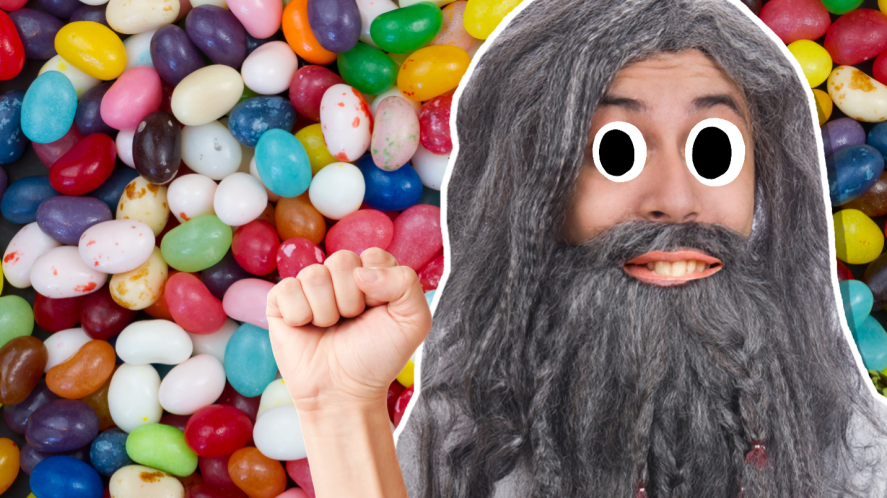Gandalf and jellybeans