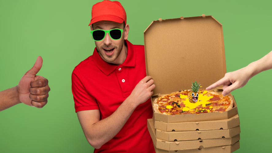 A pizza delivery man