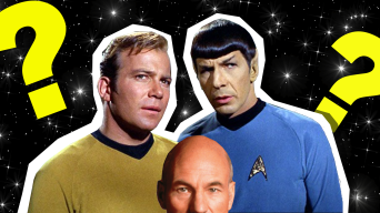 Kirk, Spock and Picard