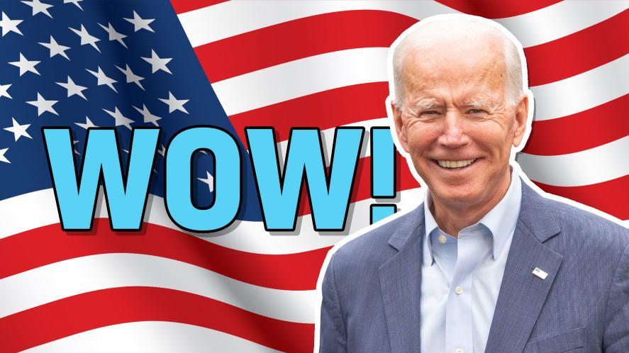A picture of President Joe Biden