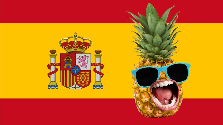 Spanish flag and pineapple