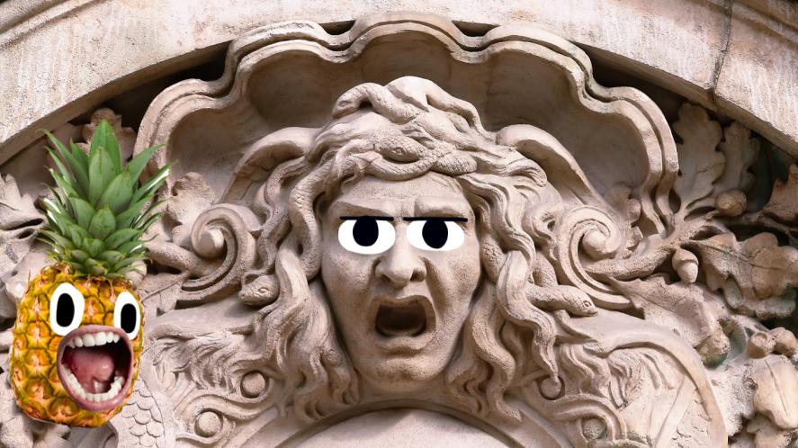 Carving of Medusa