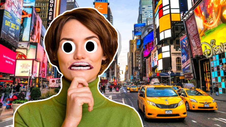 A bustling New York City street