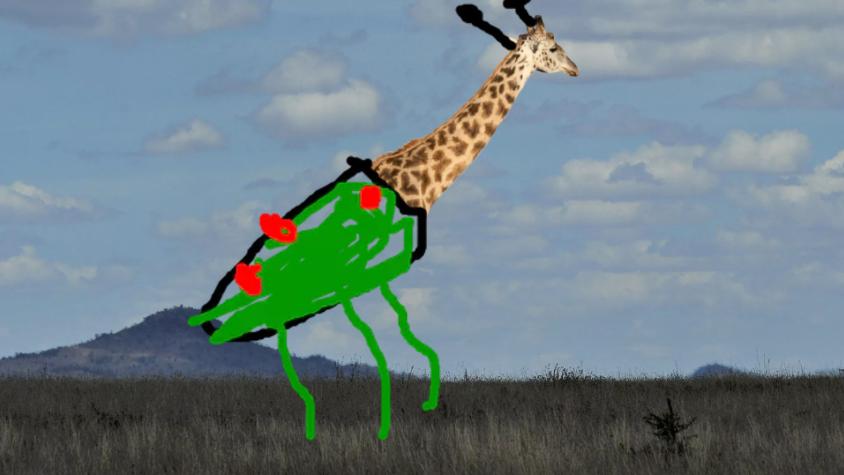 Giraffe crossed with a bug