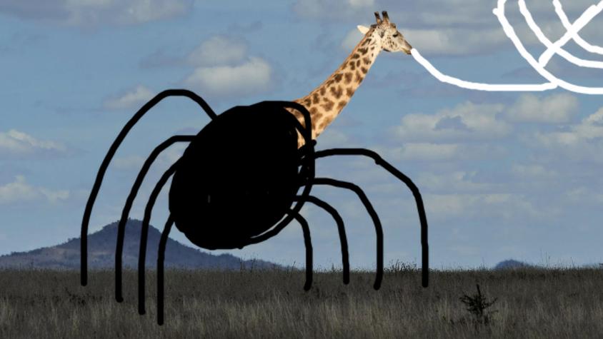 Giraffe with a spider body
