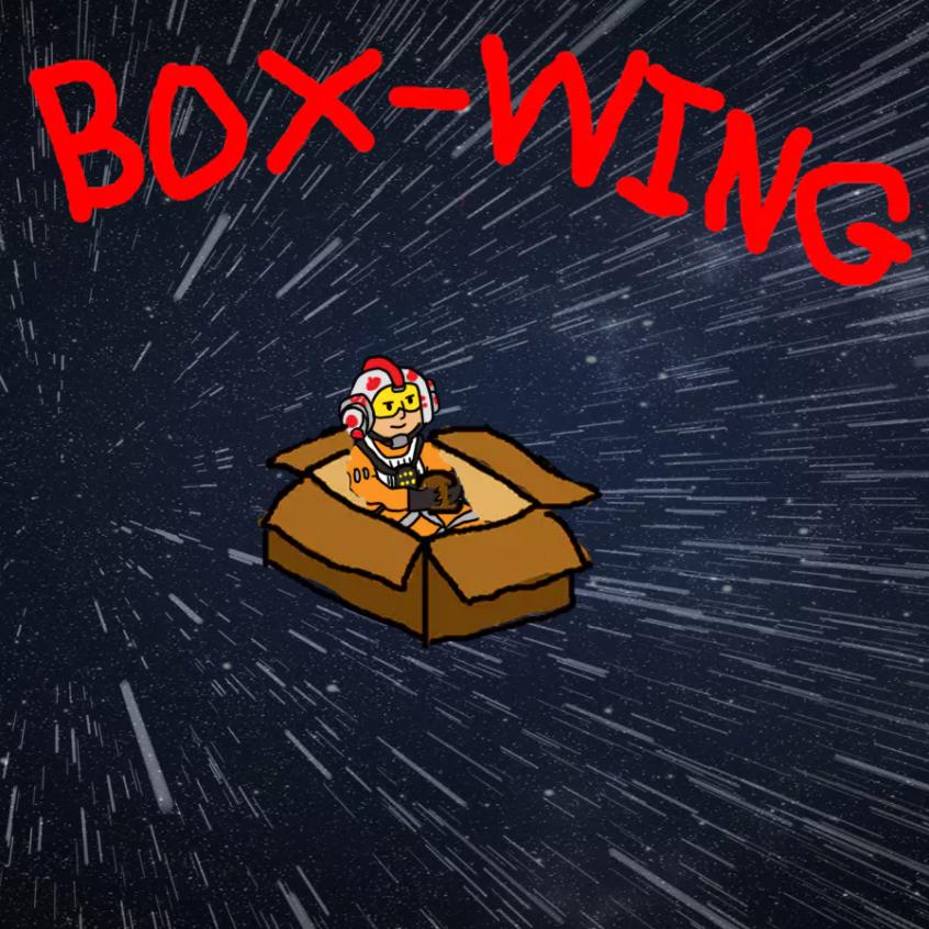 Cardboard box spaceship